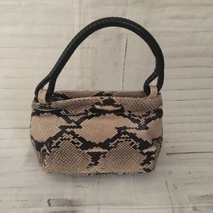 Frenchy of California genuine snake skin mini bag
